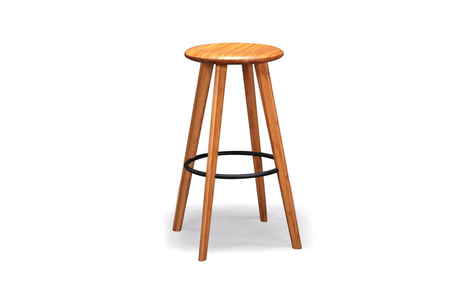 Mimosa Caramelized Bar Height Stool by Greenington - Caramelized Wood.