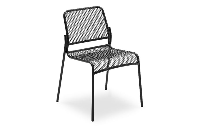 Mira Chair by Skagerak - Anthracite Black Powder Coated Steel.