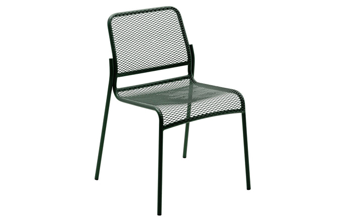 Mira Chair by Skagerak - Hunter Green Powder Coated Steel.
