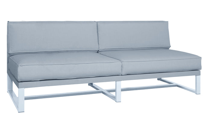 Mono 2-Seater Sectional Seat by Mamagreen - White Stainless Steel.