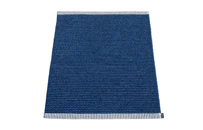 Mono Dark Blue & Denim Rug by Pappelina - 24