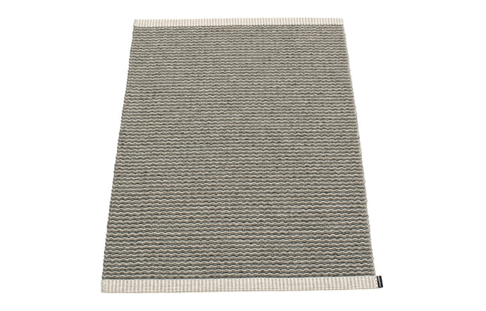 Mono Warm Grey & Charcoal Rug by Pappelina - 24