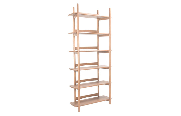 Mora Bookcase by Sun at Six - Regular/Sienna Wood.