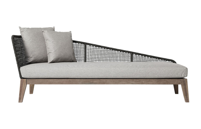 Netta Outdoor Right Chaise by Modloft - Feather Gray Fabric