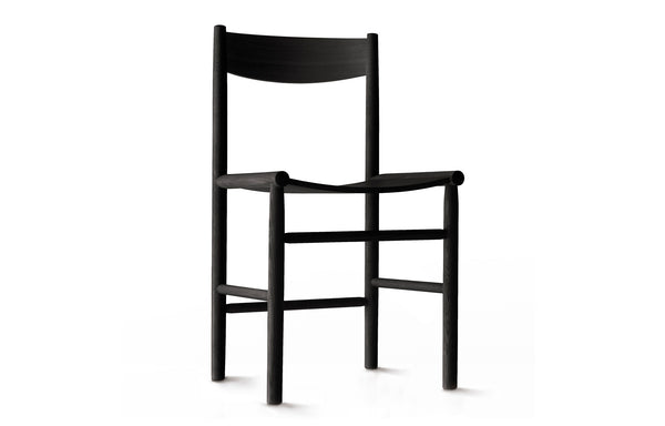 Linea Akademia Dining Chair by Nikari - Black Stained Oak, No Upholstery.