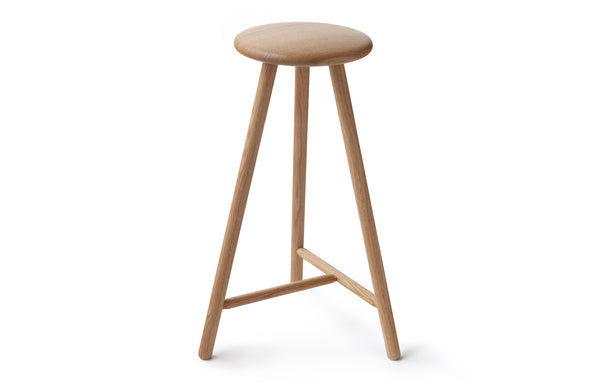 Linea Perch Bar Stool by Nikari - Natural Oil Oak.
