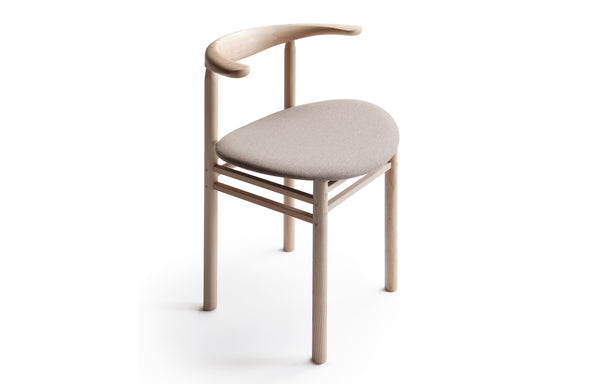 Linea RMT3 Chair by Nikari - Ash with Oak Coloured Stain, Fabric 1: Roccia By Fidivi.