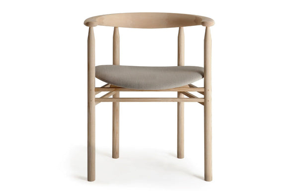 Linea RMT6 Chair by Nikari - Ash with Oak Coloured Stain, Fabric 4: Steelcut Trio By Kvadrat.