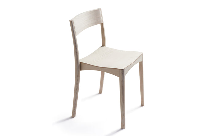 October Light Chair by Nikari - Lacquer Ash, No Upholstery.