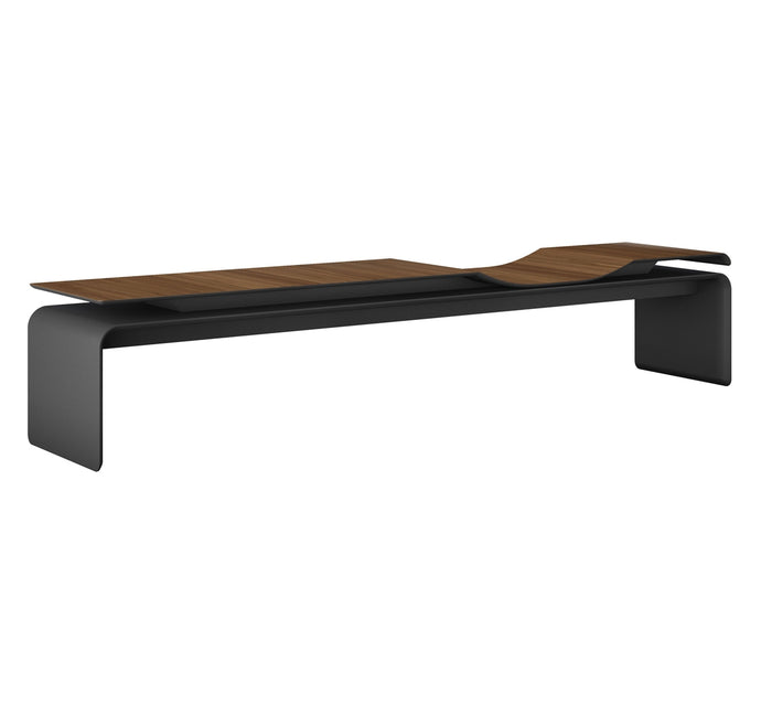 Norbury Bench by Modloft Black - Walnut Color.