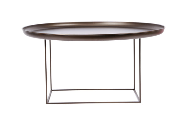 Duke Coffee Table by Norr11 - Large, Bronze Aluminium.
