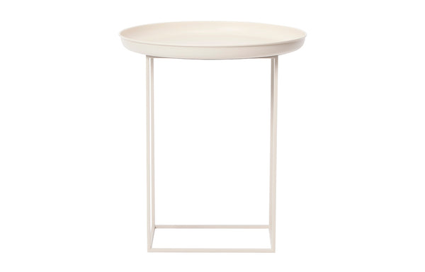 Duke Side Table by Norr11 - Antique White Aluminium.