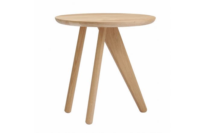 Fin Side Table by Norr11 - Natural Solid Oak.