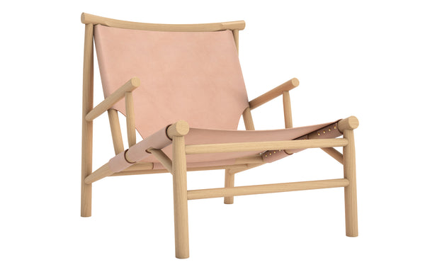Samurai Chair by Norr11 - Natural Oak Frame/Nature Leather Seat & Back.