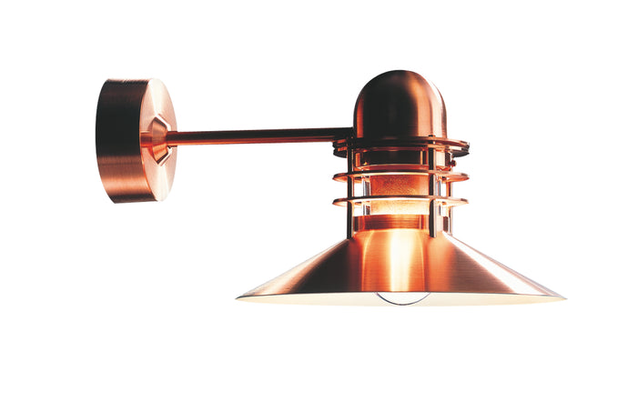 Nyhavn Outdoor Wall Light by Louis Poulsen - Brush Copper Painted