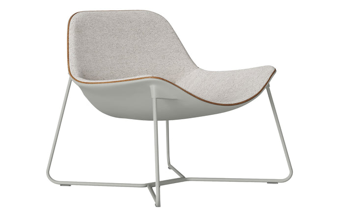Oakley Lounge Chair by Modloft Black - Oatmeal Fabric.