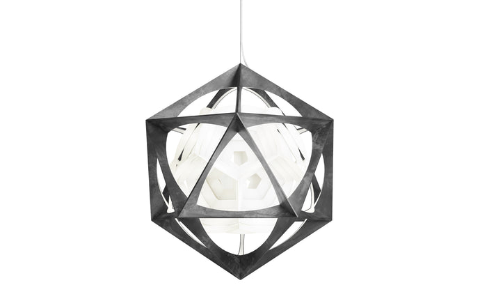 OE Quasi Indoor Pendant Light by Louis Poulsen - Dark Grey.
