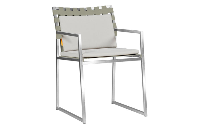 Ekka Carver Dining Armchair by Mamagreen - Dune Keops Webbing, Light Taupe Standard Batyline.