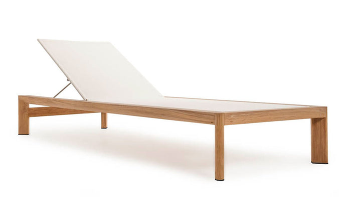 Ora Sunlounge by Harbour - Natural Teak Wood.