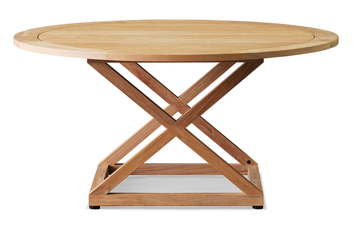 Pacific Round Dining Table by Harbour - Natural Teak Wood.