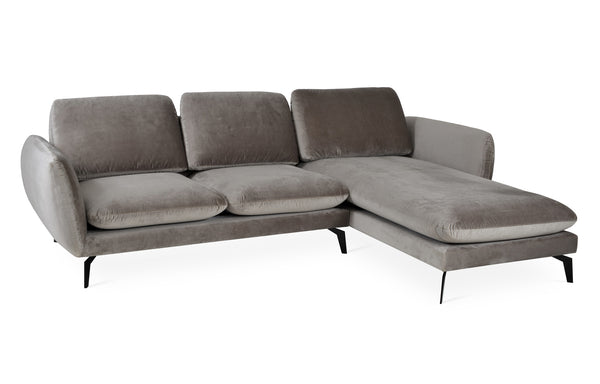 Paloma Sectional by SohoConcept - Right Hand Face, Velvet Grey