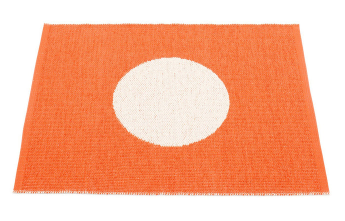 Vera Small One Orange & Vanilla Rug by Pappelina.