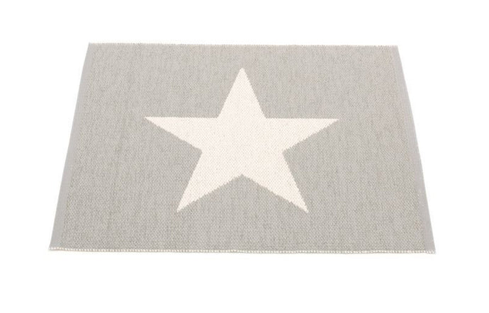 Viggo Small One Warm Grey & Vanilla Rug by Pappelina.