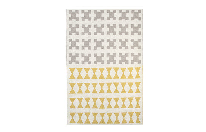 Paris Yellow Grey Rug by Brita.