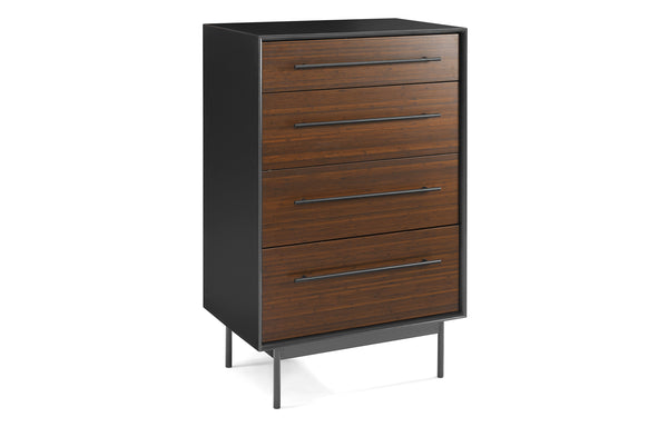 Park Avenue Ruby 4 Drawer High Chest by Greenington - Ruby Wood.