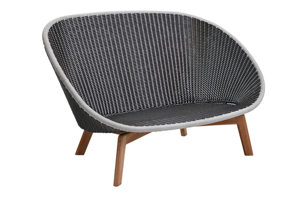 Peacock Weave 2-Seater Sofa with Teak Legs by Cane-Line - No Cushion Set.