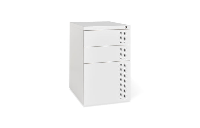 Perf File Cabinet by Gus Modern - White.
