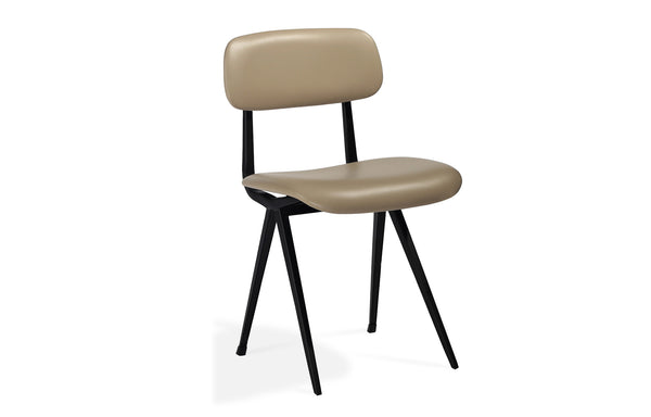 Perla Soft Seat Dining Chair by SohoConcept - Wheat PPM-S, Matte Black Frame.