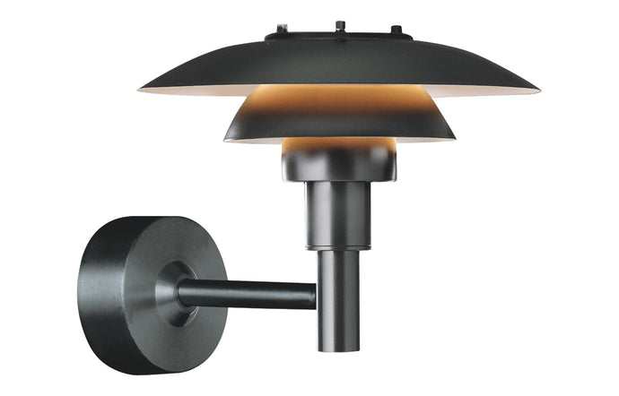 PH 3-2½ Outdoor Wall Lamp by Louis Poulsen - Black Powder Coated.