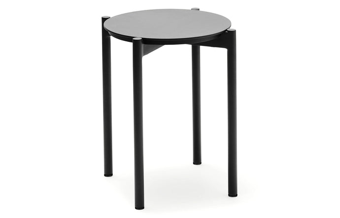 Picnic Stool by Skagerak - Anthracite Black Powder Coated Aluminum.