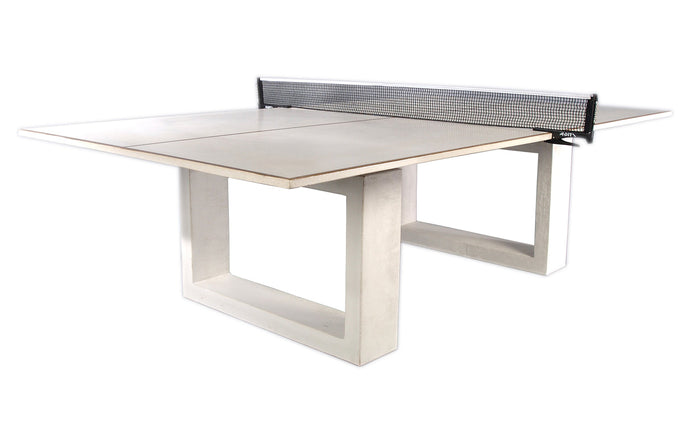 James De Wulf Ping Pong Dining Table by De Wulf - Natural Tone Concrete.