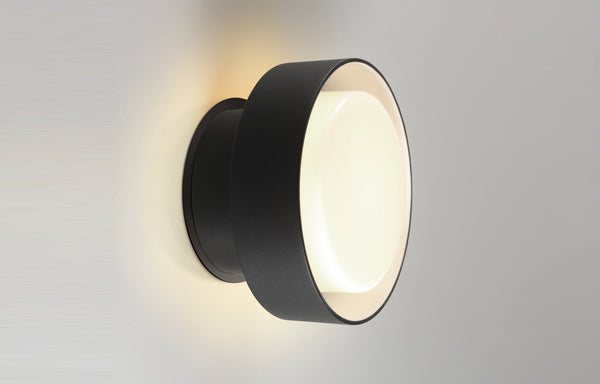 Plaff-On IP65 Outdoor Wall Lamp by Marset - Black Lacquered Aluminum.