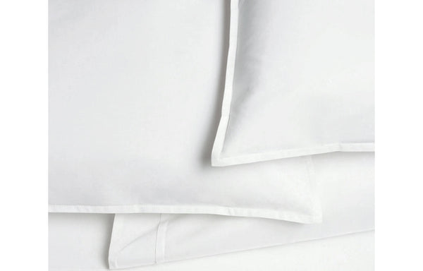Pleat White Organic Cotton Flat Sheet by Area