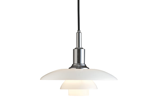PH 3/2 Indoor Glass Pendant Light by Louis Poulsen - High Lustre Chrome Plated.