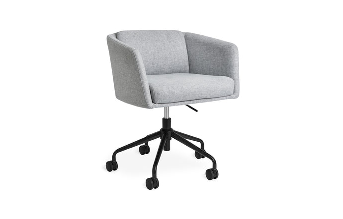 Radius Chair by Gus Modern - Bayview Silver with Black Powder Coat.