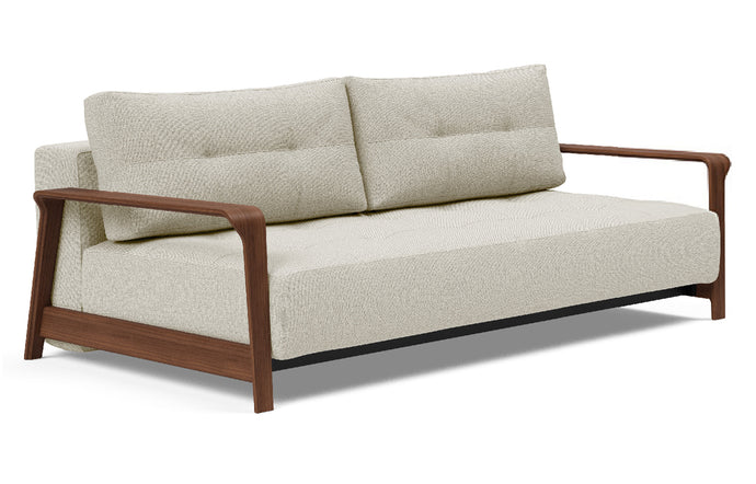 Ran D.E.L Sofa Bed by Innovation - 527 Mixed Dance Natural (stocked).