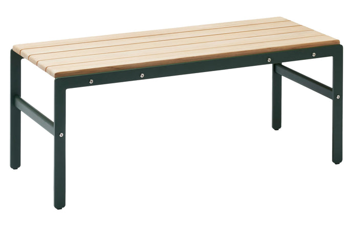 Reform Bench by Skagerak - Hunter Green Powder Coated Aluminum/Teak.