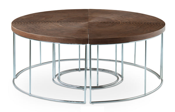Ripples Coffee Table by SohoConcept - Chrome Plated Metal Tube