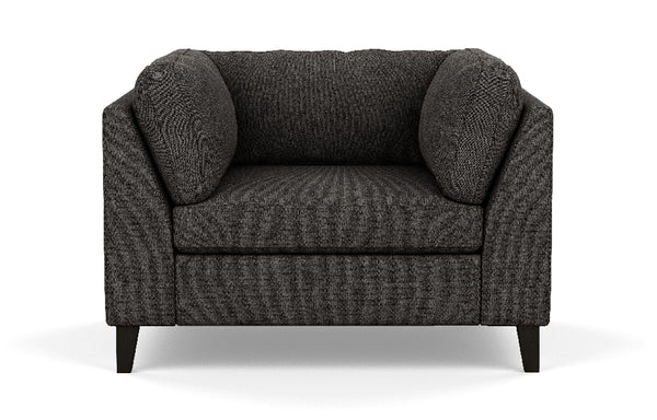 Salema Fabric Chair by EQ3 - Onyx Leg, Coda Ash Fabric.