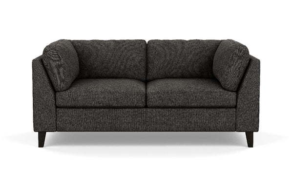 Salema Fabric Loveseat by EQ3 - Onyx Leg, Coda Ash Fabric.