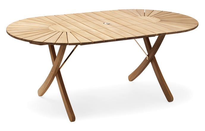Selandia Extendable Table by Skagerak - Teak/Stainless Steel.