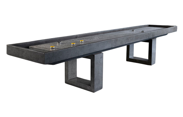 James De Wulf Shuffleboard Table by De Wulf - Natural Tone Concrete.