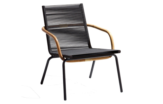 Sidd Stackable Lounge Armchair by Cane-Line - Brown Rope.