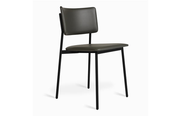 Signal Chair by Gus - Black Powder Coat/Vinyl Hunter Grey Fabric.