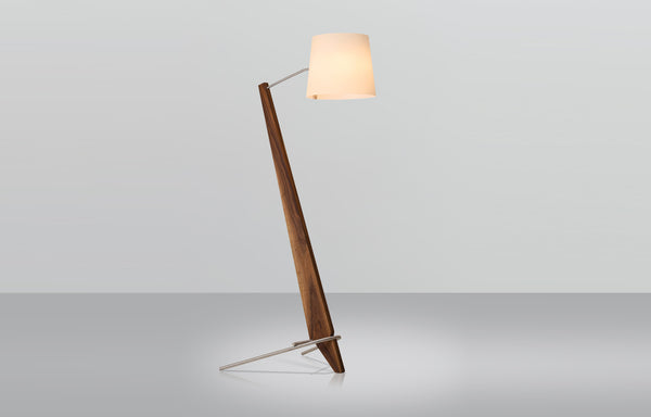 Silva Giant Floor Lamp by Cerno - Walnut Body.