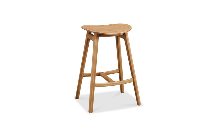 Skol Stool by Greenington - Caramelized Wood.